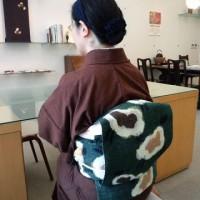 引地礼子さんの木綿の着物 帯 熊本市