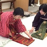 熊本市中央区 着付け教室 上通り 袋帯 前結び
