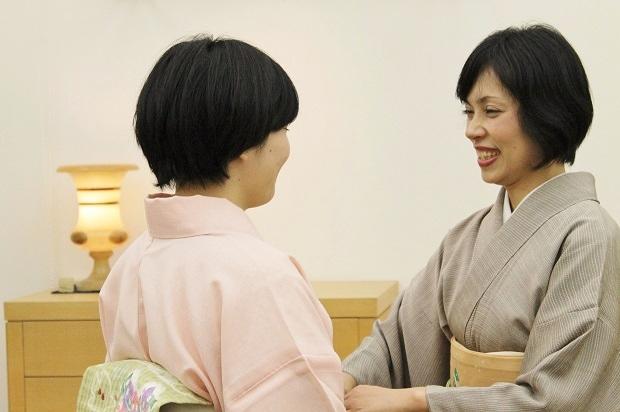 きつけ わのくに 熊本市中央区 上通り 着付け教室 講座 前結び 立ち居振る舞い レッスン