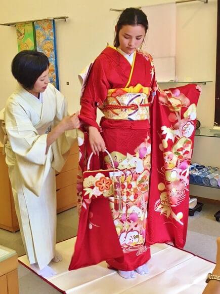 浴衣着付け 着付け教室 熊本市中央区 着物専門店 わのくに
