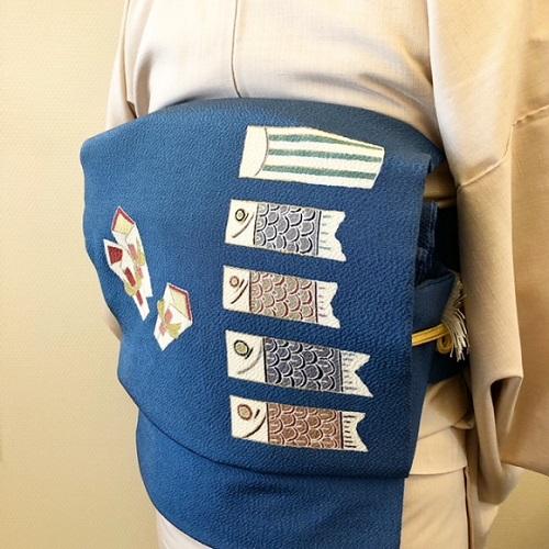 熊本市中央区 着物専門店 みさやま紬 わのくに 5月節句の帯