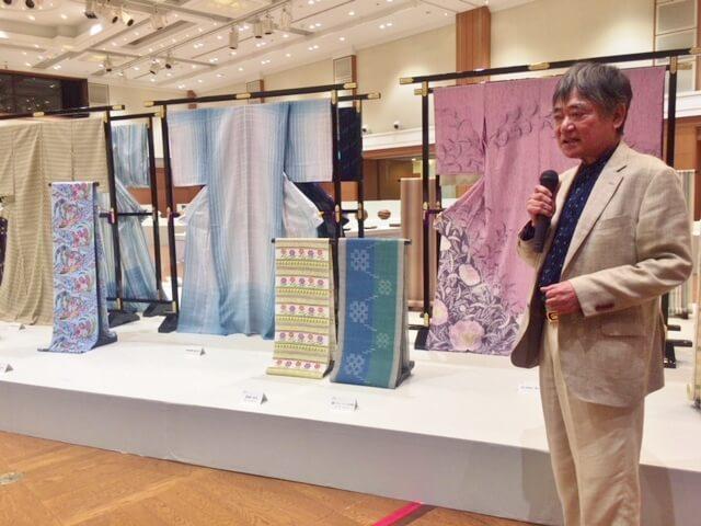 西部工芸展 松枝哲哉 久留米絣 重要無形文化財保持者 熊本市中央区 着物専門店 わのくに