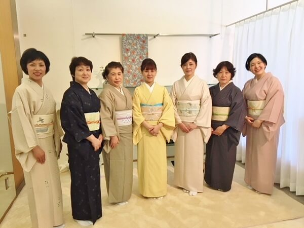 着付けランチ会 着物を着る機会を提案 熊本市中央区 着物専門店 わのくに