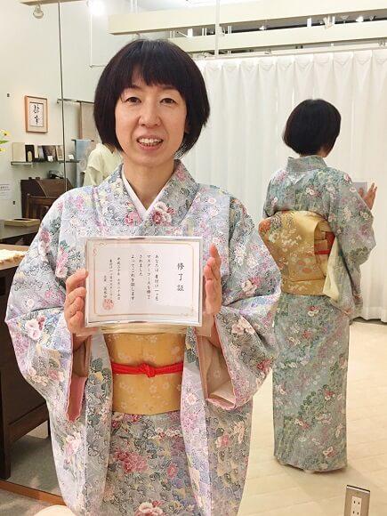 1ヶ月で着付けがマスターできる 着付け教室 熊本市中央区 着物専門店 わのくに