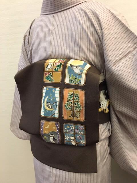 秋の着物姿 着物のコーディネート 熊本市中央区 着物専門店 わのくに