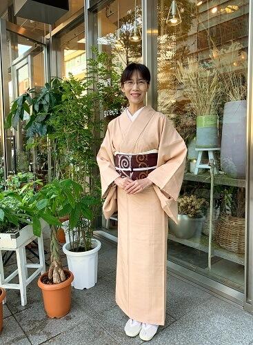 着物コーディネート 洛風林名古屋帯 マルタの渦巻き 熊本市中央区 着物専門店 わのくに
