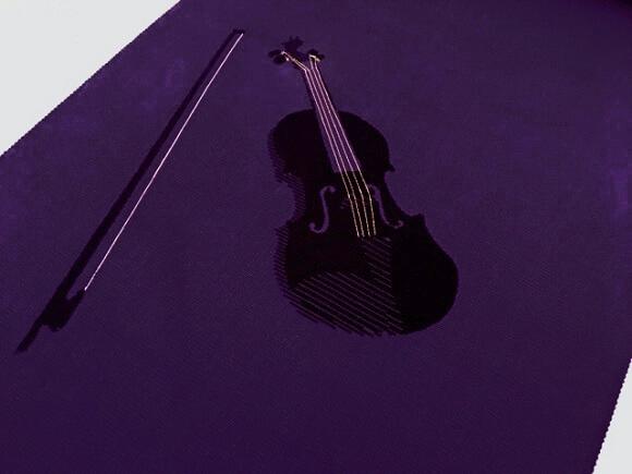 九寸名古屋帯 バイオリン柄 熊本市中央区 着物専門店 わのくに