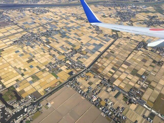 京都出張 機内からの景色 熊本市中央区 着物専門店 わのくに