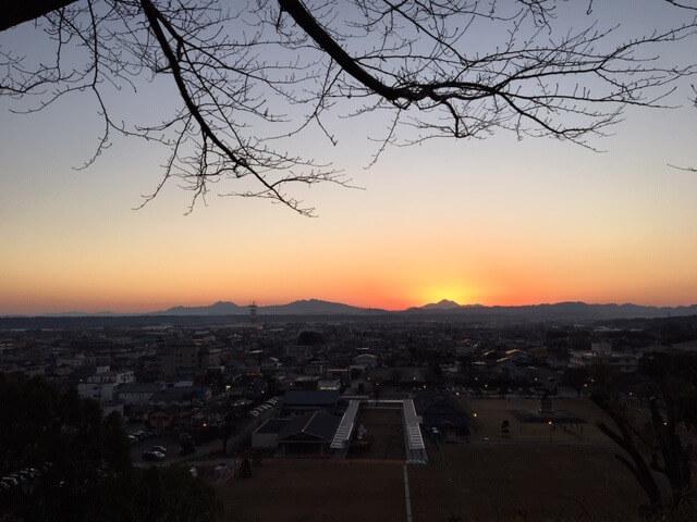 大晦日の夕焼け 熊本市中央区 着物専門店 わのくに
