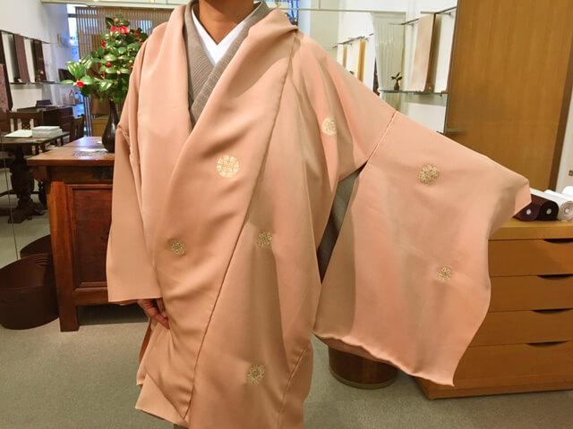 上品なコート 糊糸目 一ノ橋染 熊本市中央区 着物専門店 わのくに