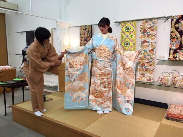 お振袖 2020年成人式 糊糸目 松に文箱 一ノ橋 熊本市中央区 着物専門店 わのくに