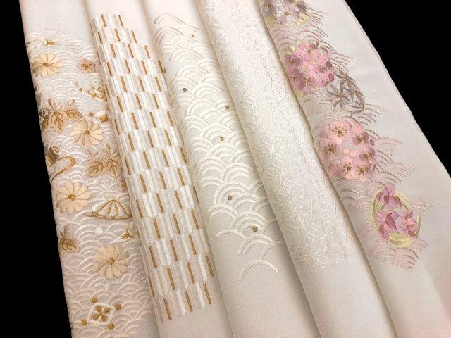 半衿 黒留袖 刺繍半衿 上品な刺繍 熊本市中央区 着物専門店 わのくに