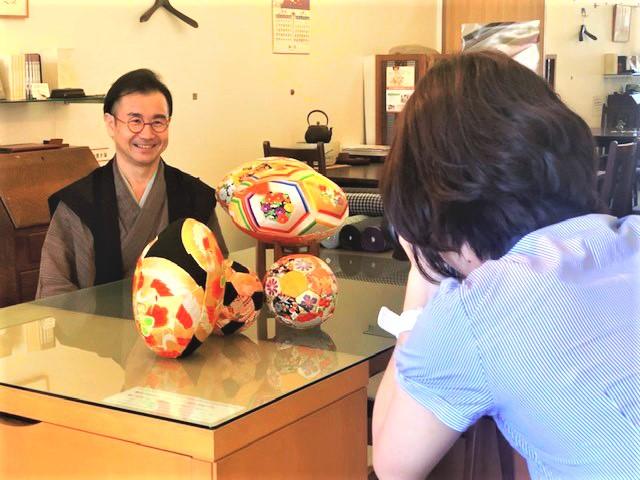 着物ラグビーボール 着物ハンドボール 熊本日日新聞 熊本市中央区 着物専門店 わのくに