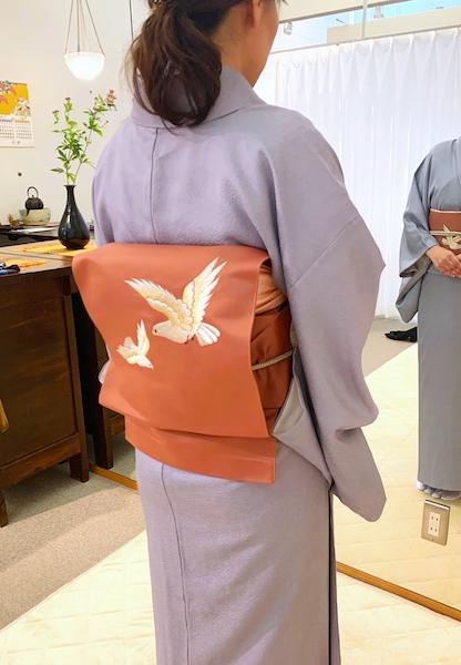 着付け教室 着付け2回コース 名古屋帯 熊本市中央区 着物専門店 わのくに