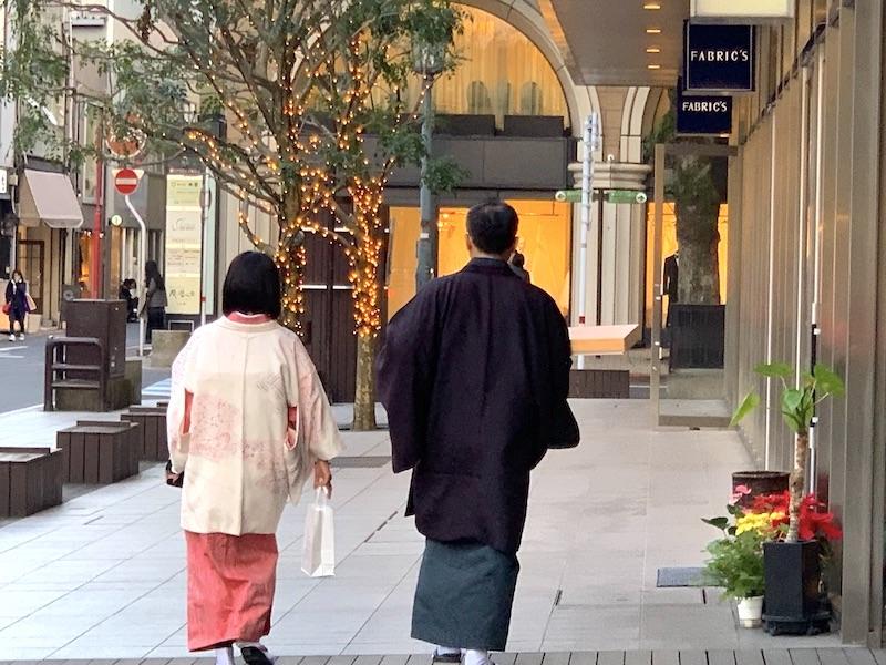 夫婦でお着物 お着物で初詣 熊本市中央区 着物専門店 わのくに