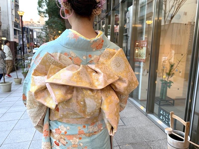 成人式 上品なお振袖 一ノ橋 上品な袋帯 日本スタイル 熊本市中央区 着物専門店 わのくに