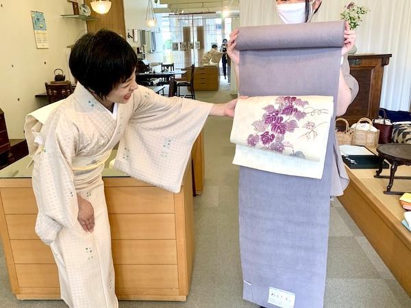 夏着物 お仕立て 綿麻の着物 熊本市中央区 着物専門店 わのくに