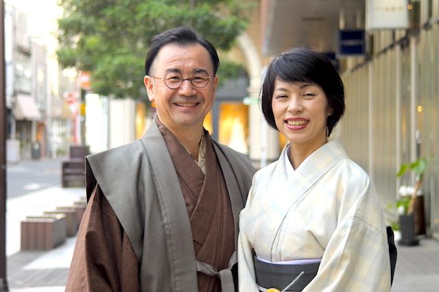 4月の装い 着物コーディネート 夫婦で着物 熊本市中央区 着物専門店 わのくに