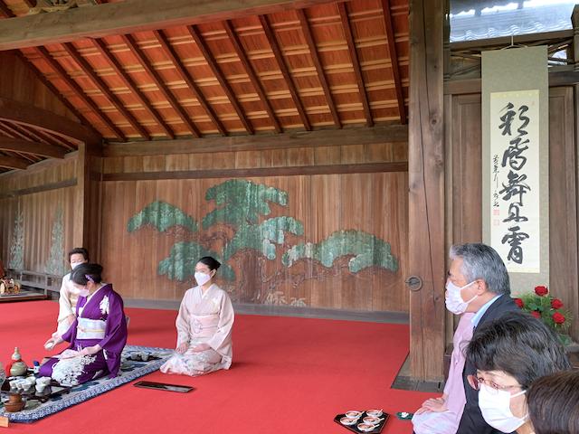 お茶会の着物 東阿部流 熊本支部結成50周年記念茶会 お煎茶 水前寺成趣園 能楽殿 熊本市中央区 着物専門店 わのくに